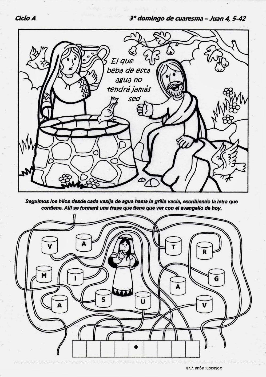 Educar con Jesús: Jesús y la samaritana Jn 4,5-42 (CUA3-14)