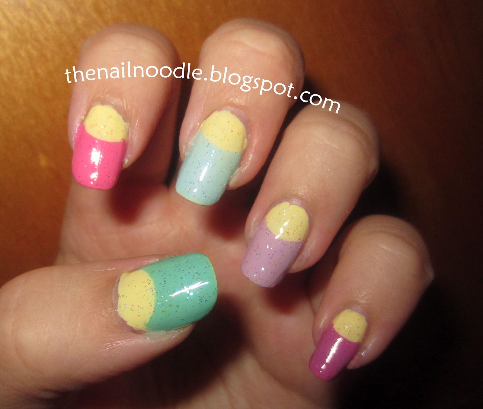 The Nail Noodle: Avon Lemon Sugar Nail Polish (and some nail art ...