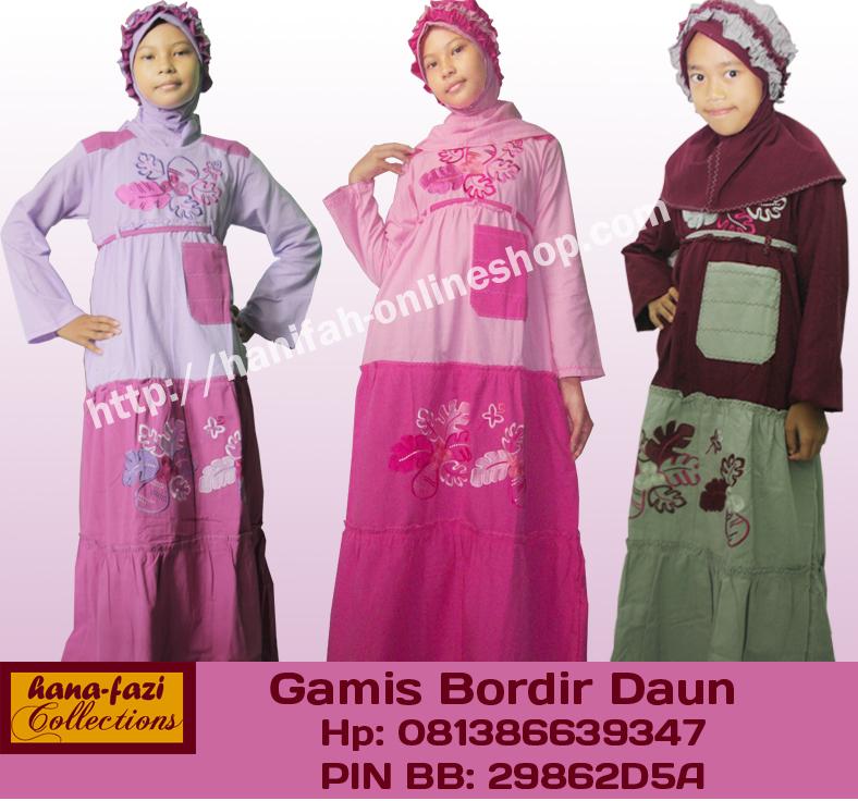 Grosir baju muslim mukena anak jilbab baju renang dengan Baju gamis elif