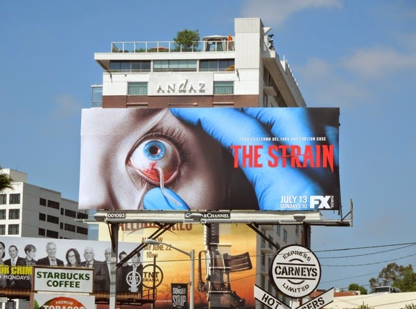 The Strain season 1 one eye billboard
