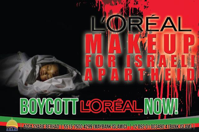 boycott, israel, palestine, free for palestine, loreal