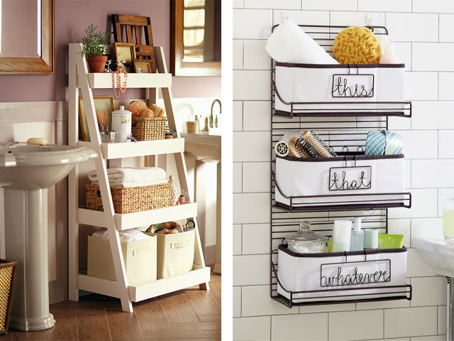 bathroom storage bins and baskets