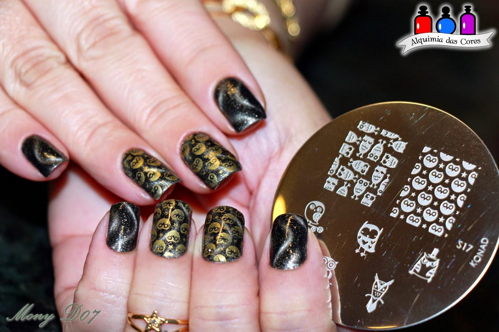 Layla, 24 Starry Night,  Magneffect, magnético, preto, verde,dourado, grafite, cinza,, Mony D07, Simoned07, esmalte, unhas, esmaltação.mani, manicure