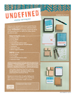 CREATE YOUR STAMP IMAGES WITH THE NEW - UNDEFINED STAMP CARVING KIT...