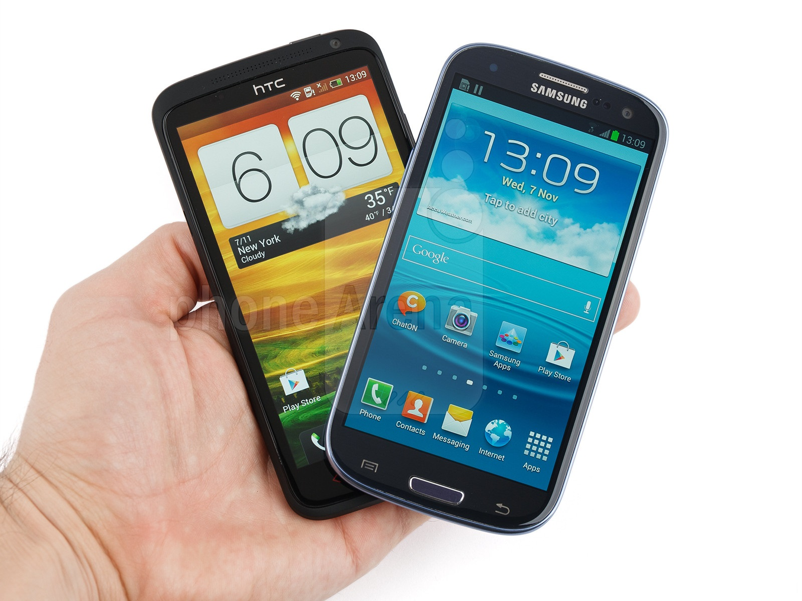 HTC One X vs. The Samsung Galaxy Note II