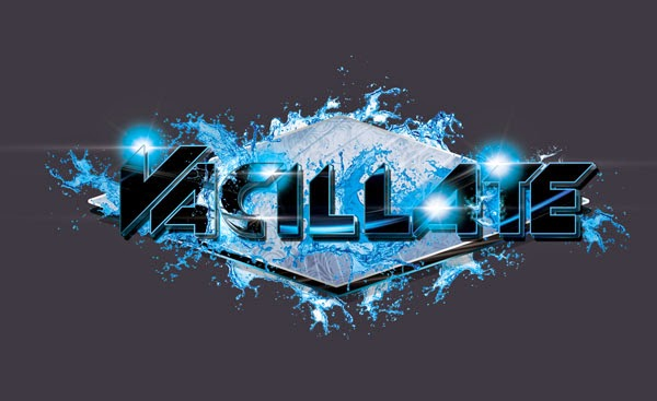 DJ Vacillate Logo Design Black And Silver Edition