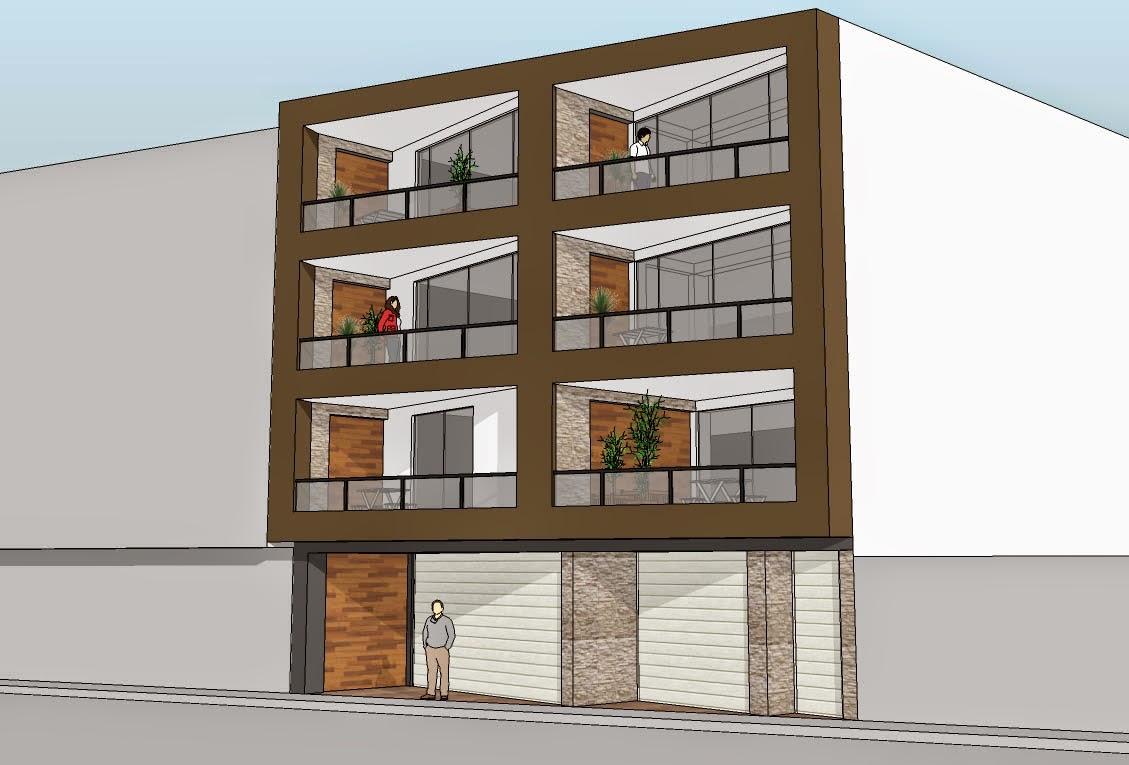 Cristian campos dise o de fachada de vivienda multifamiliar for Diseno de viviendas