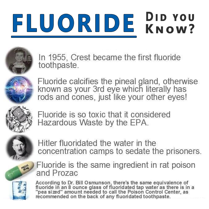 Fluoride in our water: Why does nobody talk about how much Fluoride affects our bodies natural Thyroid functions?