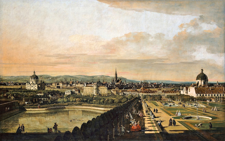 Bernardo Bellotto - Vienna Viewed from the Belvedere Palace