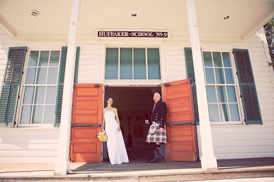 Outside historic Huffaker School in Reno, NV