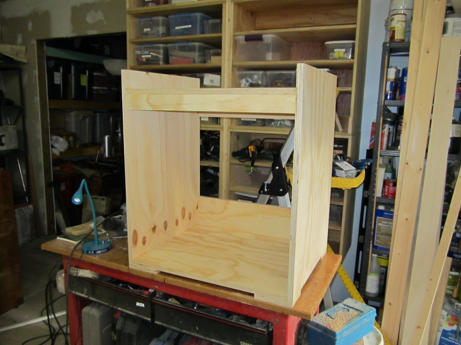 Superb img of tool cabinet carcass assembled base cabinet showing casters and draw with #986E33 color and 1600x1200 pixels