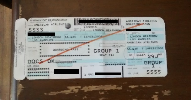 information in the boarding pass