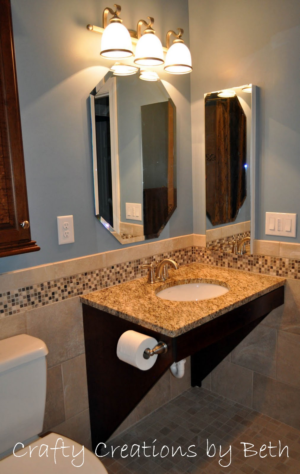 Wheelchair accessible bathroom remodel sonya hamilton designs for Wheelchair accessible sink bathroom