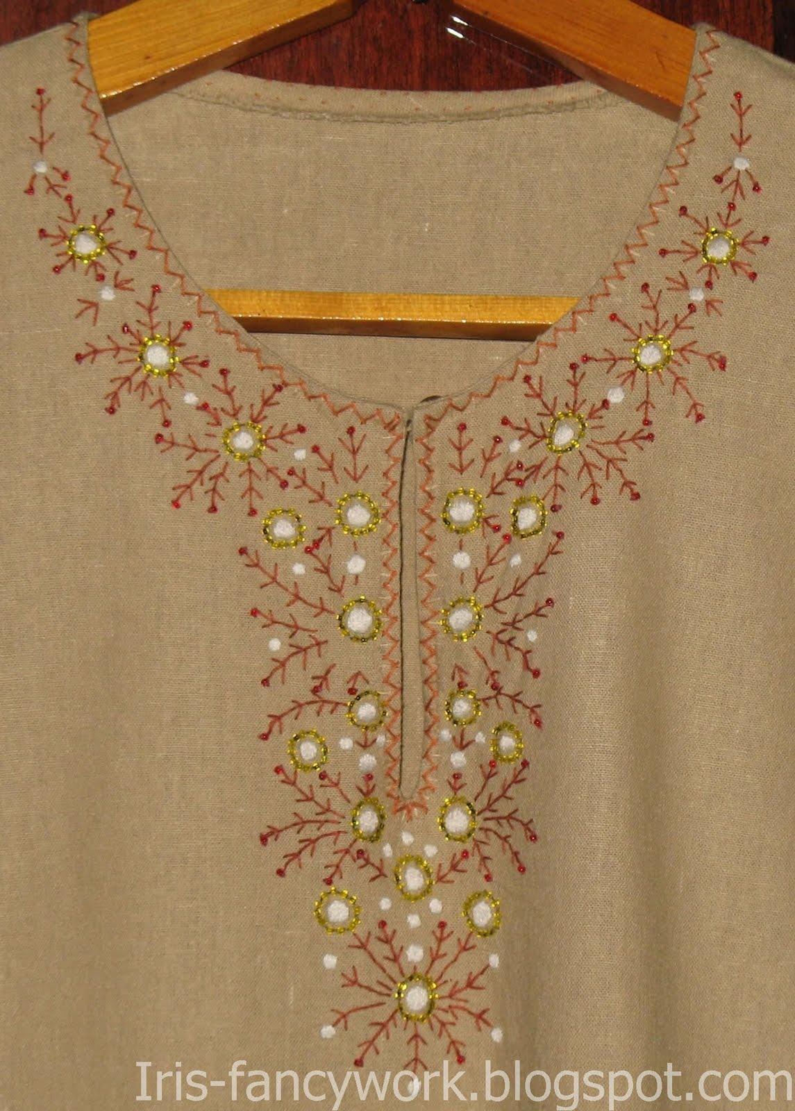 Отделка платья бисером фото