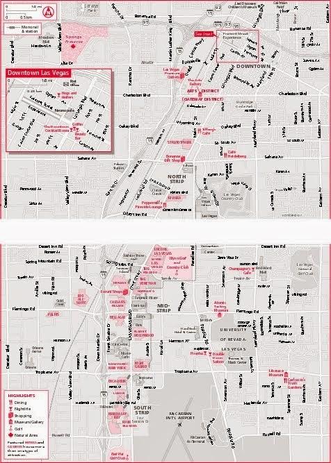 Las vegas casino map printable