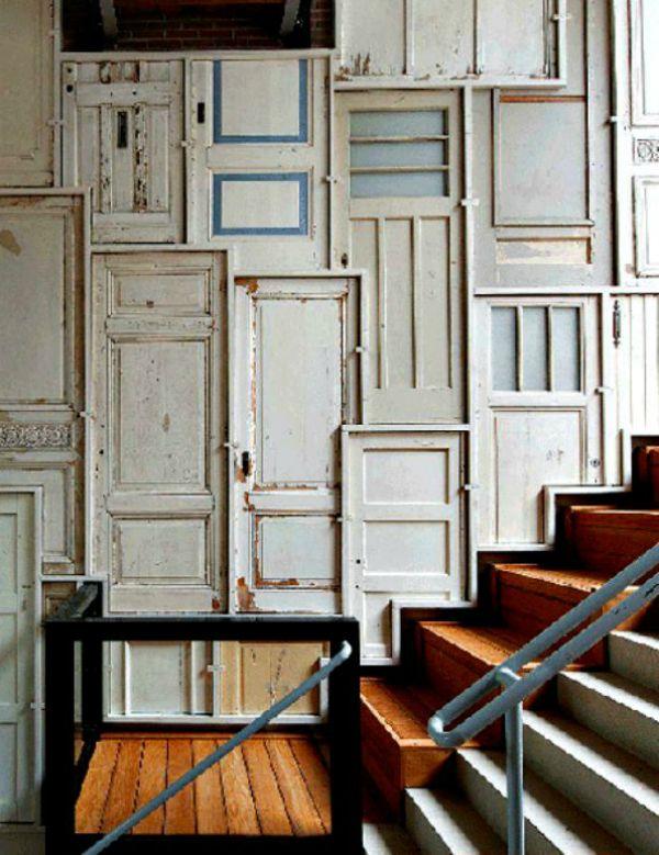 Decorar con puertas antiguas vintage home style - Puertas de madera decoradas ...