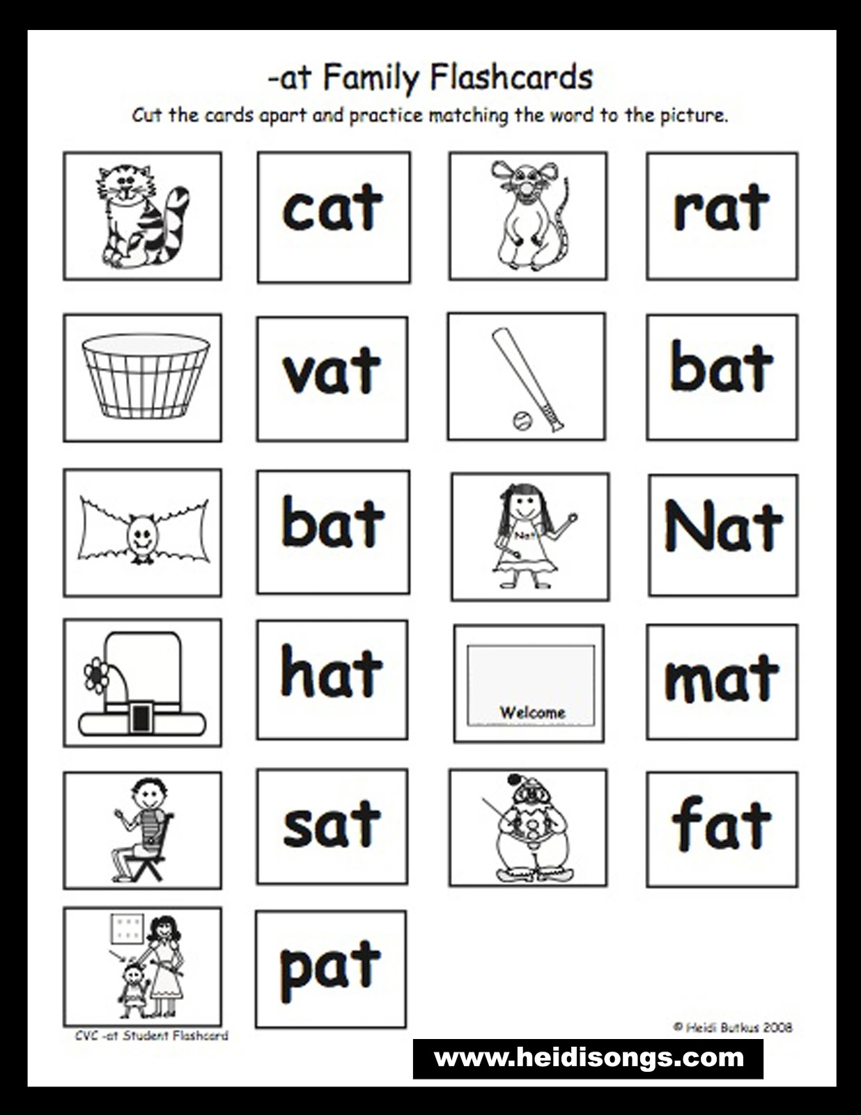 At Family Worksheet Free Worksheets Library – Word Family Worksheets for Kindergarten