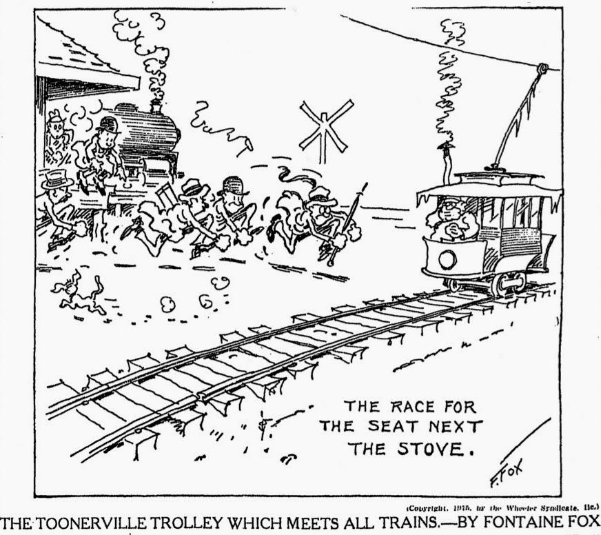 Trolley comic strip folks