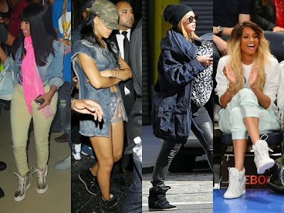 famosas con wedge sneaker