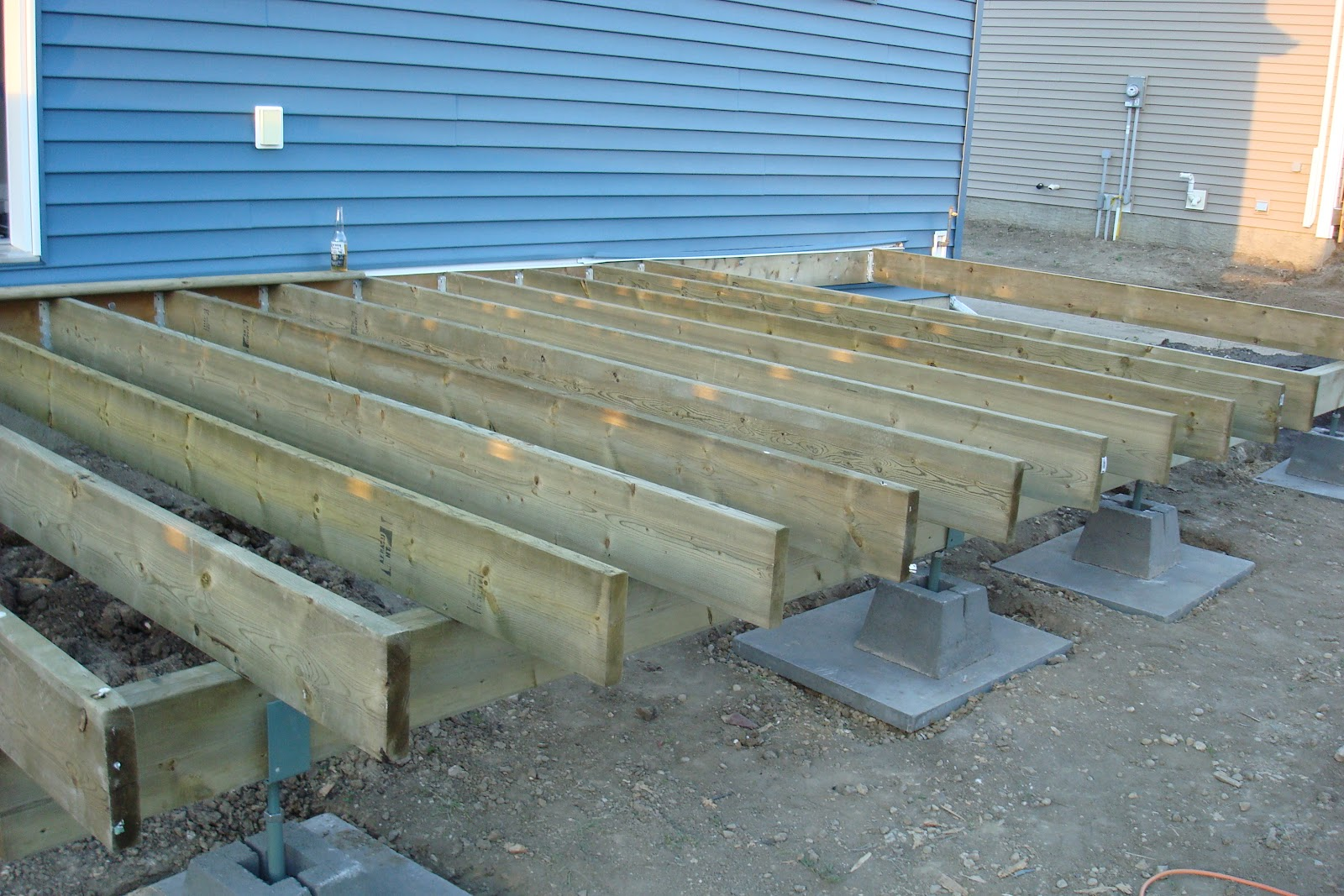 From needles to nails deck for Balcony joists