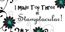 I made Top Three at Stamptacular!
