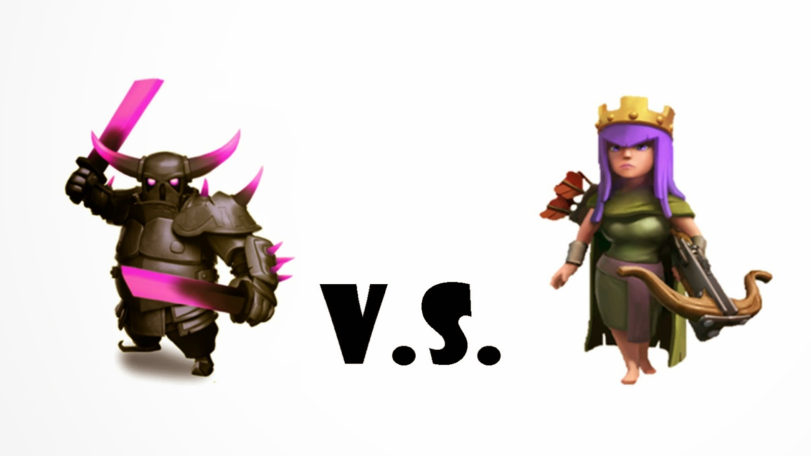 P.E.K.K.A vs Archer Queen – Clash of Clans Wallpaper