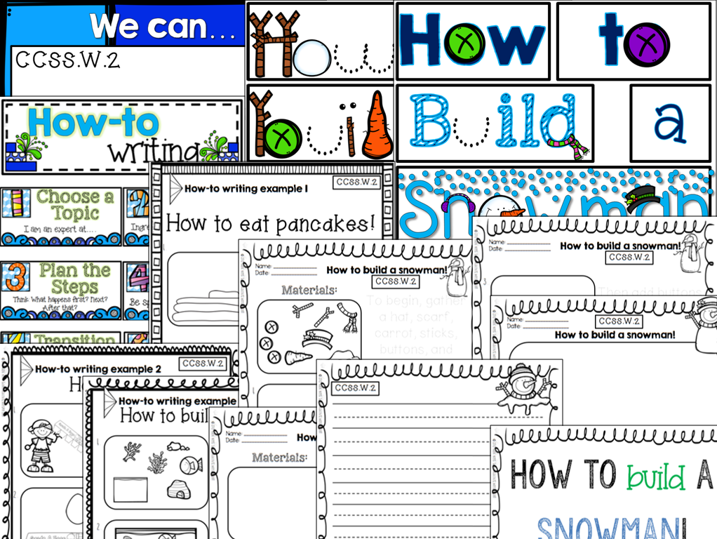 http://www.teacherspayteachers.com/Product/How-to-Build-a-Snowman-1016984