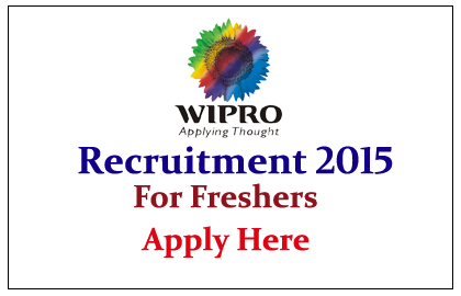 Wipro Limited Recruitment 2015 for Freshers