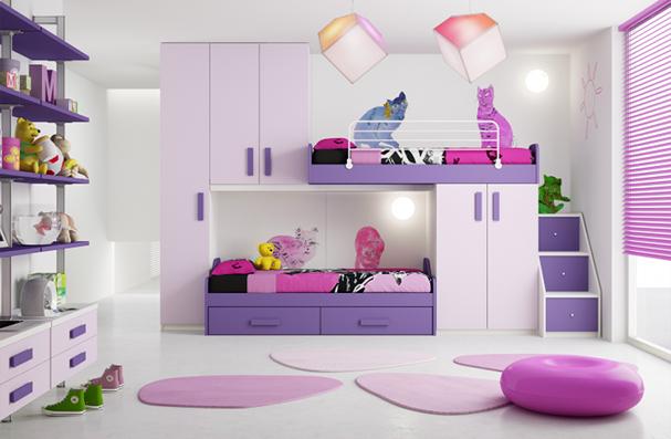 Cuartos de ni a en rosa y lila dormitorios con estilo - Decoracion de habitacion de nina ...