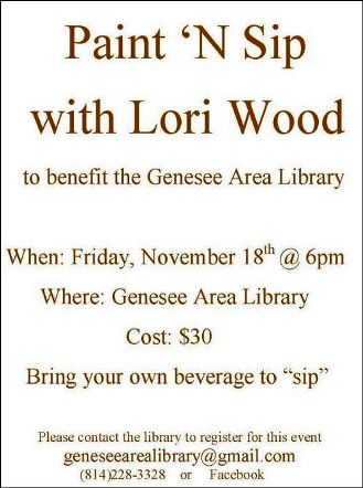 11-18 Paint & Sip With Lori Wood Genesee