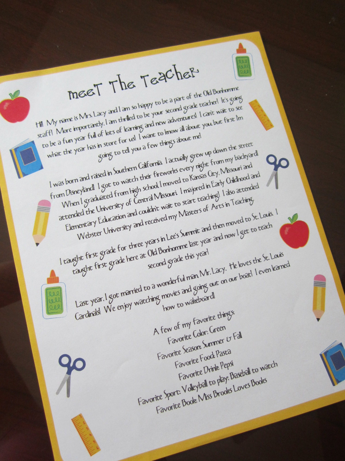 meet the teacher letters meet the teacher