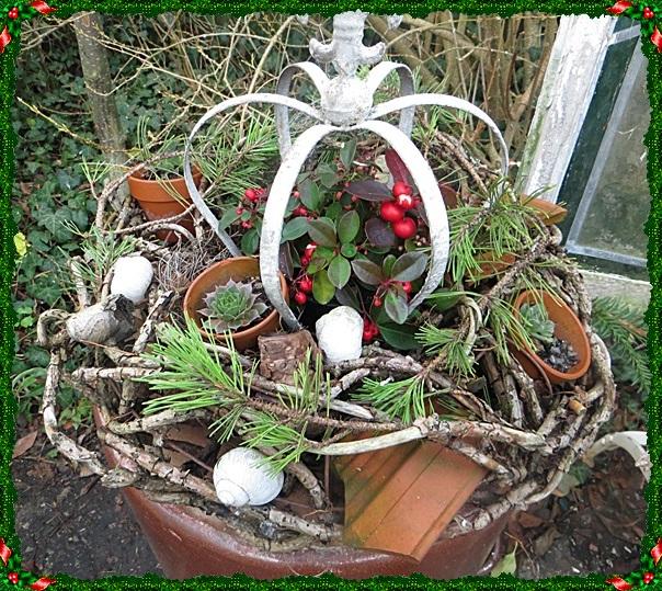 Neues vom lindenhof adventsdeko teil 2 - Zinkwanne dekorieren ...