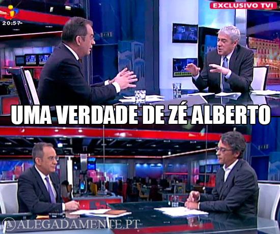 Imagen de de José Alberto carvalho a entrevistar José Sócrates e Sérgio Figueiredo – Uma verdade de Zé Alberto