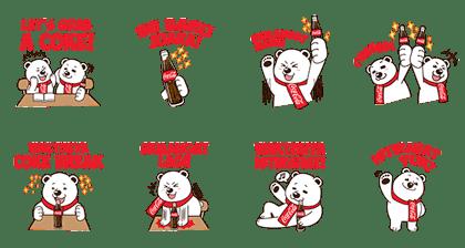 line stickers coca cola happy break free download