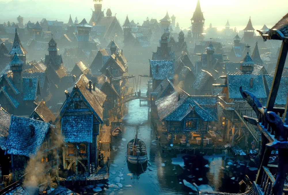 Laketown in The Hobbit: The Desolation of Smaug