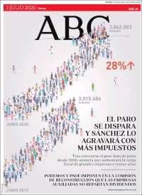 03/07/2020      ESPAÑA UNA  PRIMERA PÁGINA DE LA PRENSA