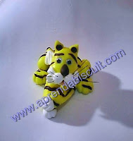 Imagem de tigre de massa de biscuit