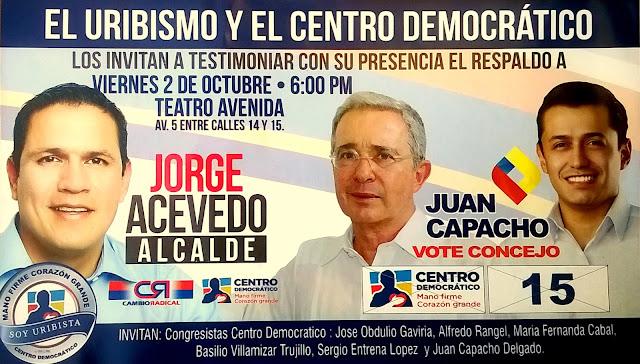 Convocatoria! Gran concentración de uribistas este viernes 02Oct2015 en el teatro avenida de Cúcuta #FélixContrerasTelevisión