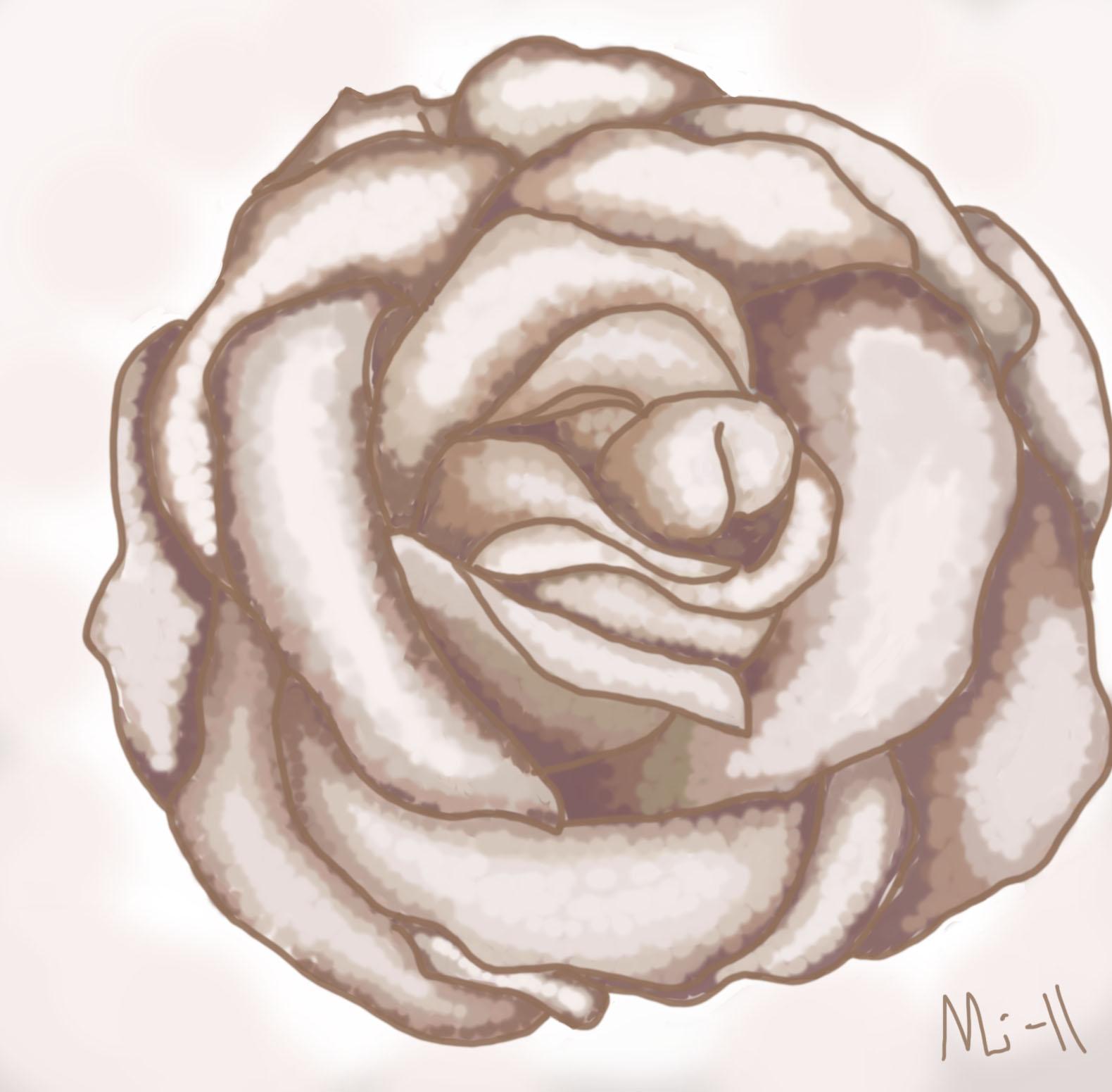 hur målar man en ros
