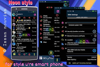 BBM Mod Neon Style
