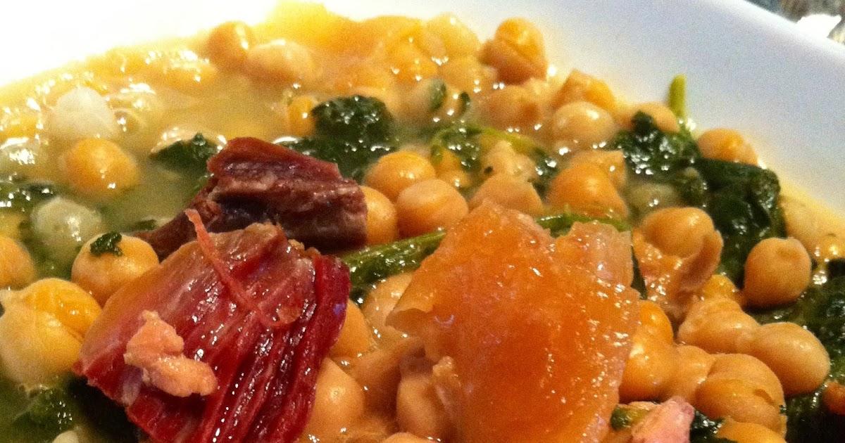 Pinxenxa en la cocina potaje de garbanzos y espinacas - Garbanzos olla express ...