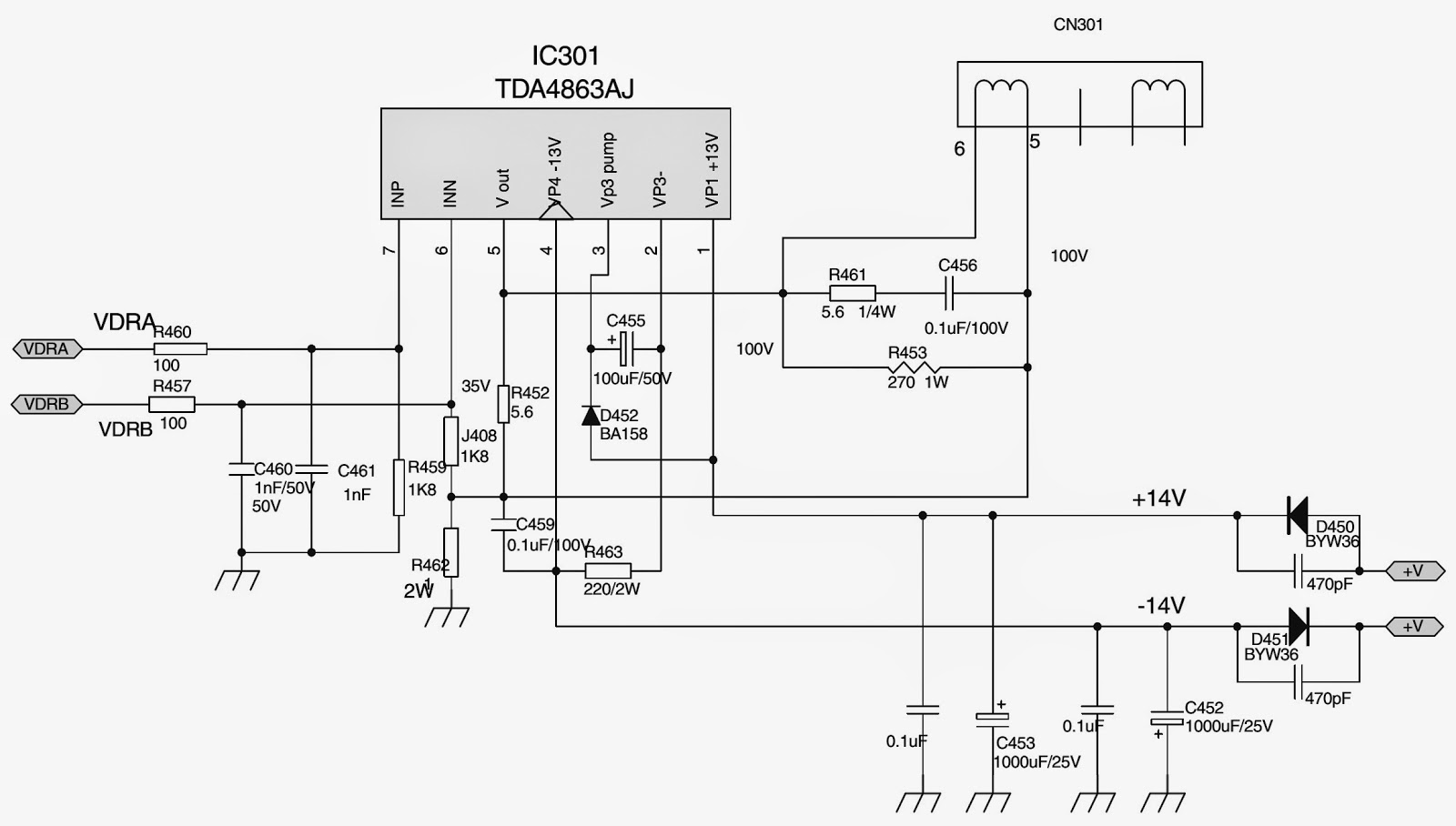 Tv Antenna System Installation also Test Polaris Rzr Xp 4 Turbo Eps likewise Watch moreover Function Generator With Xr2206 together with 2666 Basophil Granulocyte. on tv power schematic