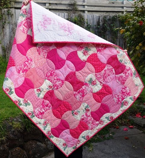 Pink Rose Baby Girl Quilt