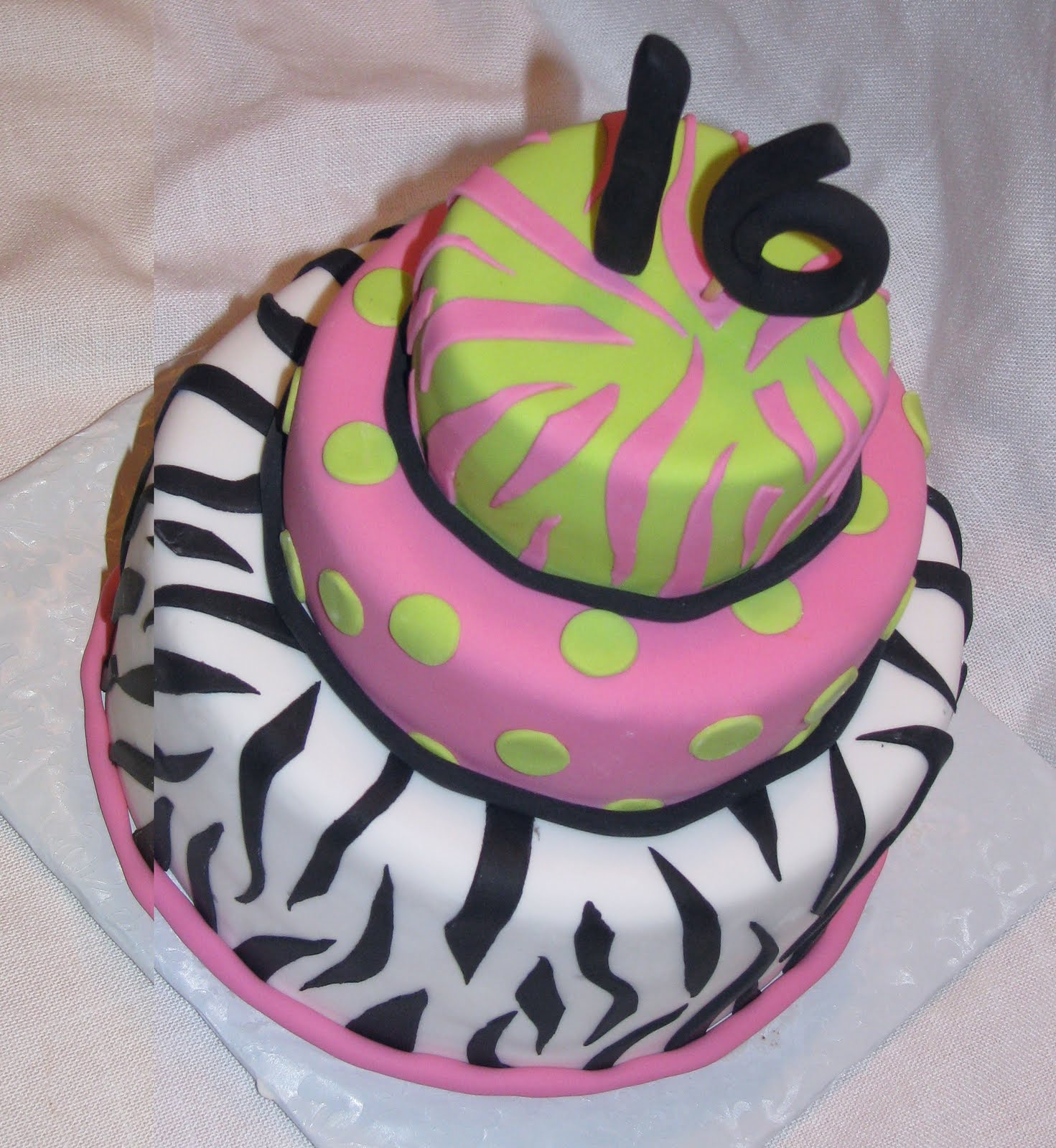 Cakes By Linsay Pink Zebra Birthday