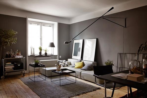 Kuchnia z widokiem kitchen with view apetyczne wn trze blog wn trza design for Mur en ardoise interieur