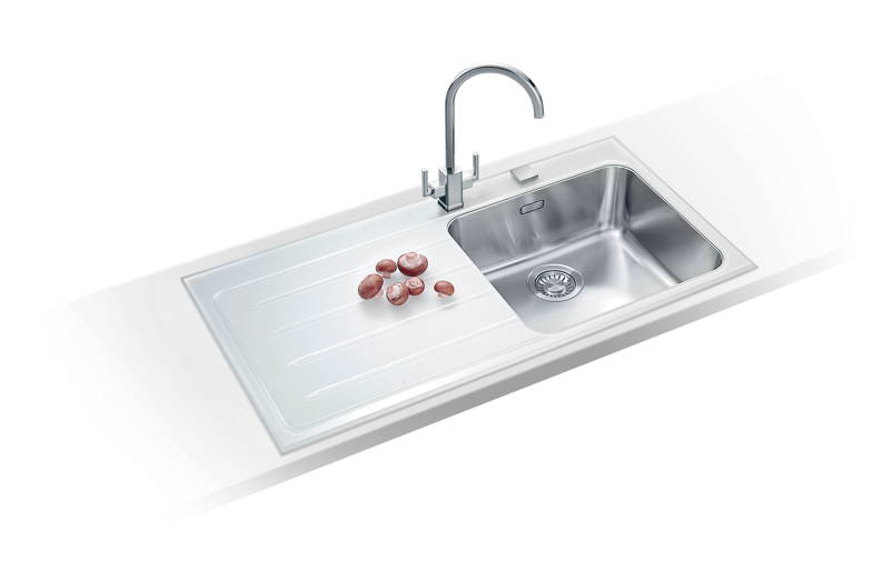 New franke epos eov glass sink kitchen solutions kent for German made kitchen sinks