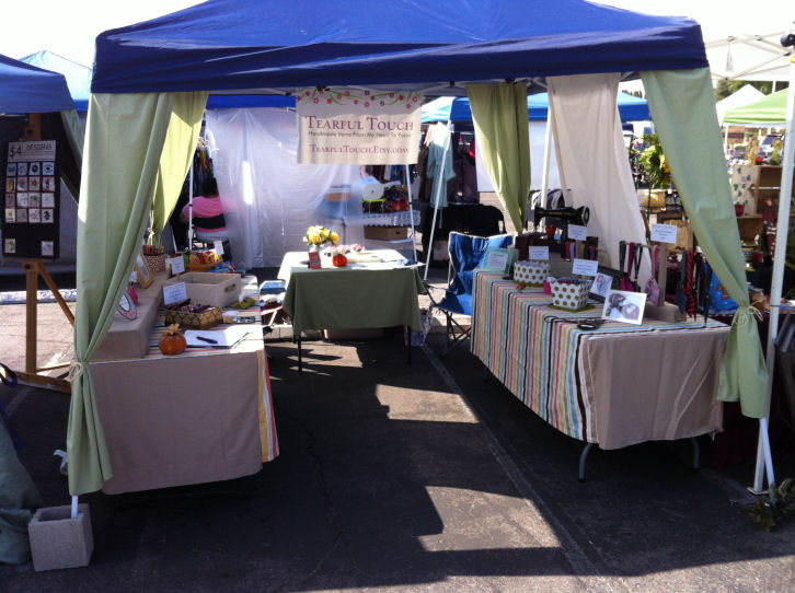 My new and improved Craft Fair Set-up & Tearful Touch: My Craft Fair Booth Makeover