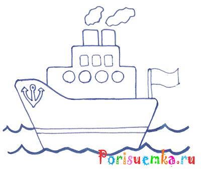 рисунок кораблик