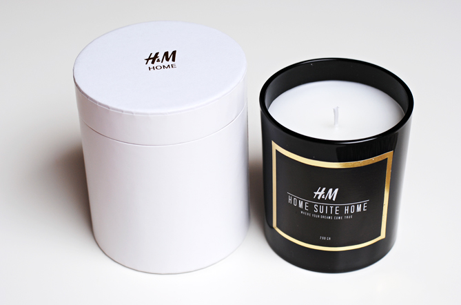 H&M Home unscented candle