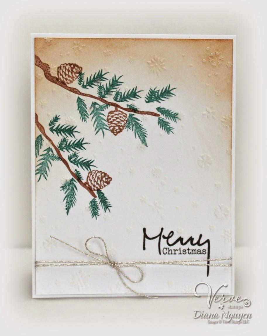 Verve,pinecone christmas, Christmas, card, Diana Nguyen